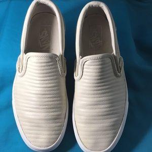 VANS Leather USE SNEAKER OFF WHITE MEN 6.5 Women 8